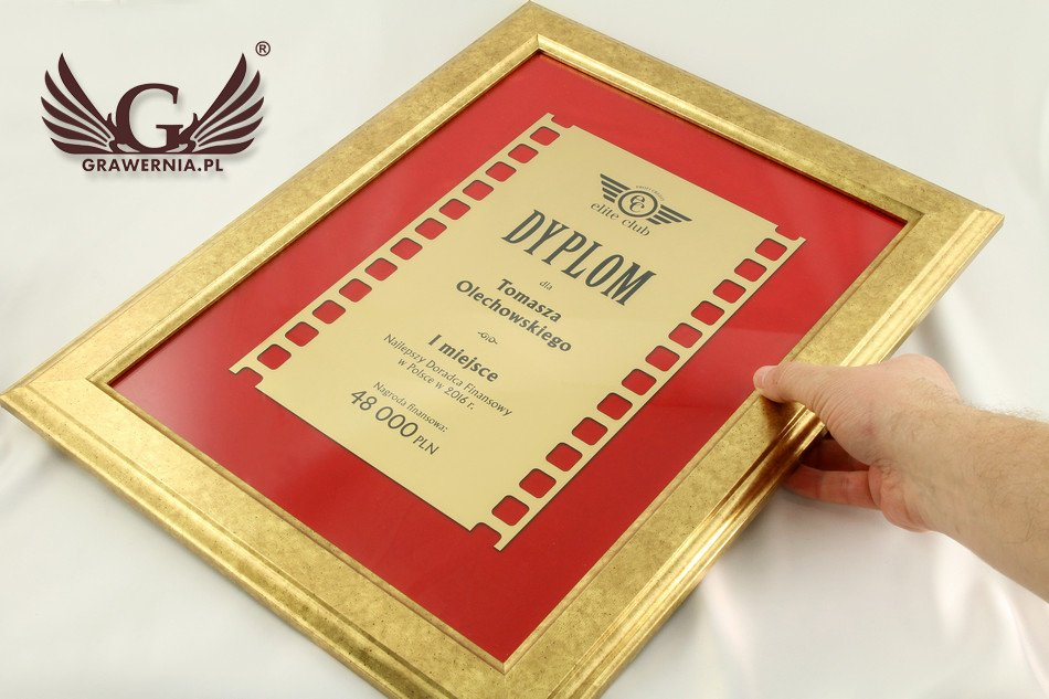 dyplom złoty