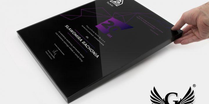 Dyplom biznesowy BLACK GLASS
