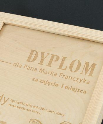 NATURAL – dyplom w drewnianej oprawie