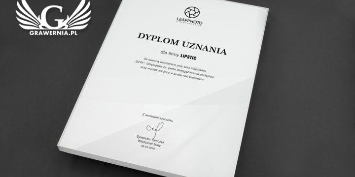 Dyplom biznesowy WHITE GLASS